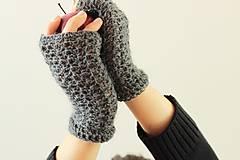 Rukavice - Háčkované rukavice- alpačíny - 4640615_