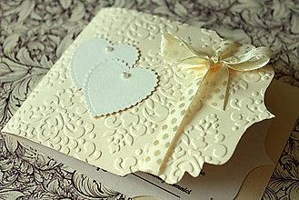 Papiernictvo - Svadobné oznámenie - ornamentové so srdiečkom - 4641313_