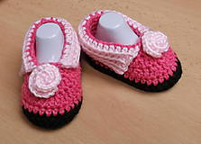 Detské topánky - Ružové papučky - 4642357_