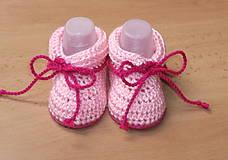 Topánočky - Ružvé papučky na šnúrku - 4642417_