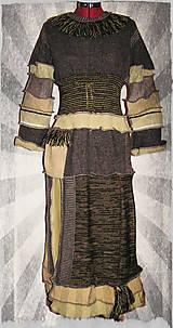 Šaty - LEL etno-folk šaty cappuccino - 4640054_