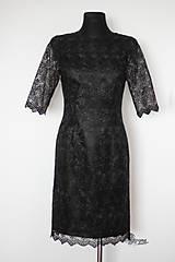 Šaty - Púzdrové šaty z luxusnej krajky rôzne farby - 4642781_
