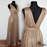 Šaty - Spoločenské šaty z elastickej látky s leskom rôzne farby - 4642964_