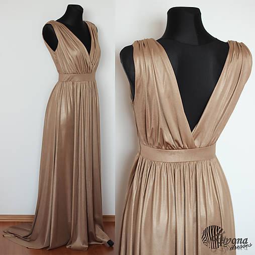 Spoločenské šaty z elastickej látky s leskom rôzne farby   Dyona ... 9fd6f71f24a