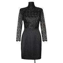 Šaty - Puzdrové šaty z luxusnej krajky s dlhým rukávom - 4642800_