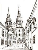 Obrazy - Kresba - moje milované mesto - na želanie - 4642189_