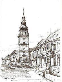 Obrazy - Kresba - moje milované mesto - na želanie - 4642192_
