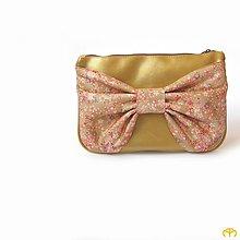 Kabelky - ENVELOPE - S mašlí... Gold Butterfly - 4640977_