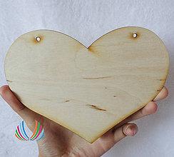 Polotovary - Drevené srdce 18x13 cm - 4639779_
