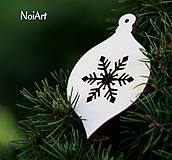Vianoce - Vianočná dekorácia Guľa s vločkou - 4646235_