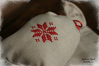 Úžitkový textil - červené a biele - 4647344_