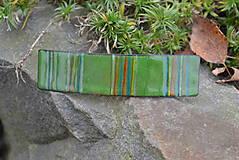 Ozdoby do vlasov - spona...zelený melír - 4645858_