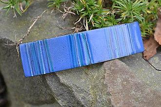 Ozdoby do vlasov - spona...modrý melír - 4645852_