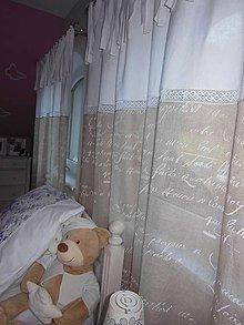 Úžitkový textil - Ľanové závesy Nostalgie - 4647016_