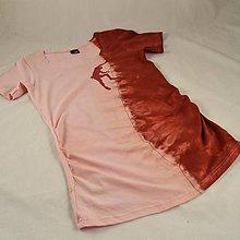 Tehotenské oblečenie - Těhotenské triko s horolezcem růžová/vínová M/L - 4646898_