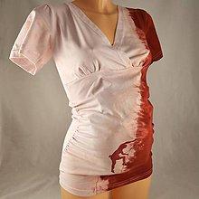 Tehotenské oblečenie - Těhotenská tunika s horolezcem světloučce růžová/vínová S/M - 4646959_