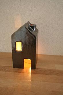 Svietidlá a sviečky - Domček - svietnik - 4649356_