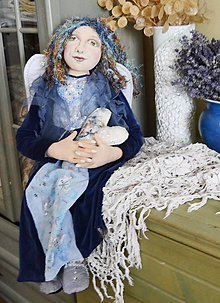 Bábiky - Modrý anjel - 4649482_