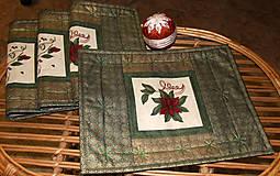 Úžitkový textil - Vianočné prestieranie - 4648935_
