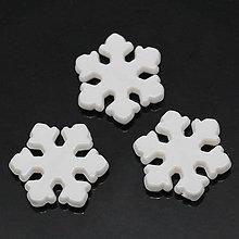 Korálky - Korálky snehové vločky (balíček 20ks) - 4651161_