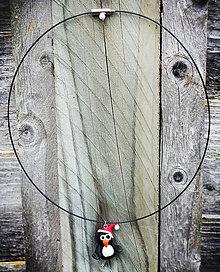 Náhrdelníky - Vianočný náhrdelník - Pinguin - 4651833_