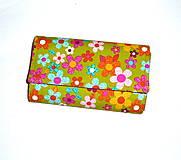 Peňaženky - Peňaženka - Rozkvitnutá lúka. - 4649149_