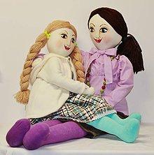 Bábiky - textilné divadelné bábiky /vyrobím na zákazku podľa želania - 4651051_