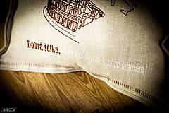 """Úžitkový textil - Vankúšik """"Všetky cesty vedú do RÍMA"""" - 4656560_"""