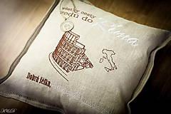 """Úžitkový textil - Vankúšik """"Všetky cesty vedú do RÍMA"""" - 4656561_"""
