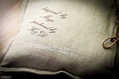 """Úžitkový textil - Vankúšik """"Všetky cesty vedú do RÍMA"""" - 4656563_"""