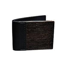Peňaženky - VÝPREDAJ – Drevená peňaženka Nox Tenebra - 4653714_