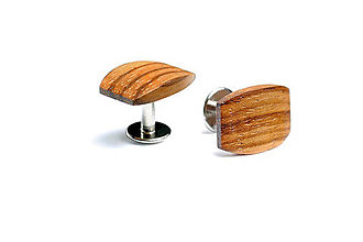 Šperky - Drevené manžetové gombíky Lini - 4653779_