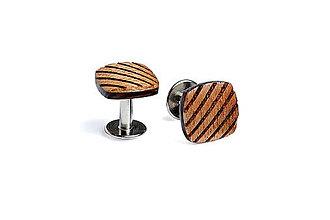 Šperky - Drevené manžetové gombíky Sull - 4653801_