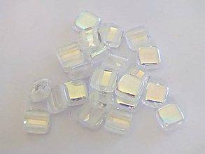 Korálky - 2-dierkové štvorčeky 6x6mm, 20 ks - 4657500_