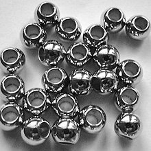 Korálky - Plast 8mm/otvor 3,8mm-strieb.tm-10ks - 4657787_