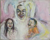 Obrazy - Prítulný zajačik (diptich Hladkajte ma v smere srsti) - 4655586_