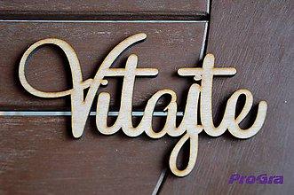 Tabuľky - Vitajte - drevený nápis - MAXI - 4654494_