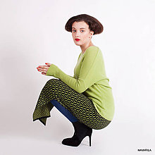 Sukne - vzorovaná maxisukně LINA - 4653373_