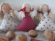 Vianoce - anjelky na stromček - 4657167_