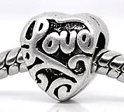 Pandorková korálka LOVE