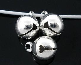 Korálky - Strieborné roľničky 11x8mm - 4656853_