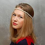 Ozdoby do vlasov - Perlový řetízek ... čelenka svatební - 4662655_