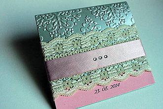 Papiernictvo - Obal na svadobné CD/DVD - perleťový - 4661227_