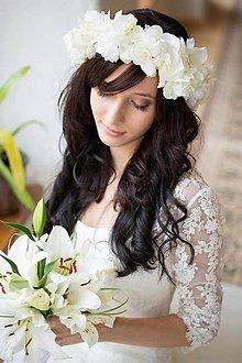 Ozdoby do vlasov - Svadobný venček pre Andrejku - 4661495_