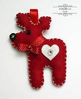 Vianočný sobík červený