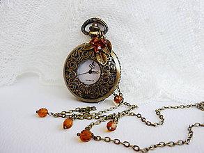Náhrdelníky - Romantické vintage Hodinky - 4658782_