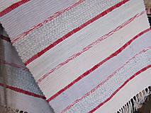 tkaný koberec - pásiky červené 70 x 150 cm
