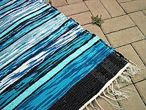 tkaný koberec - tyrkysový cca 80x200 cm