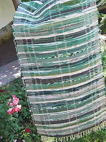 Úžitkový textil - tkaný koberec - zelený  70 x 150 cm - 4662396_