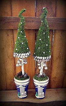 Dekorácie - stromčeky vianočné machové - 4661959_